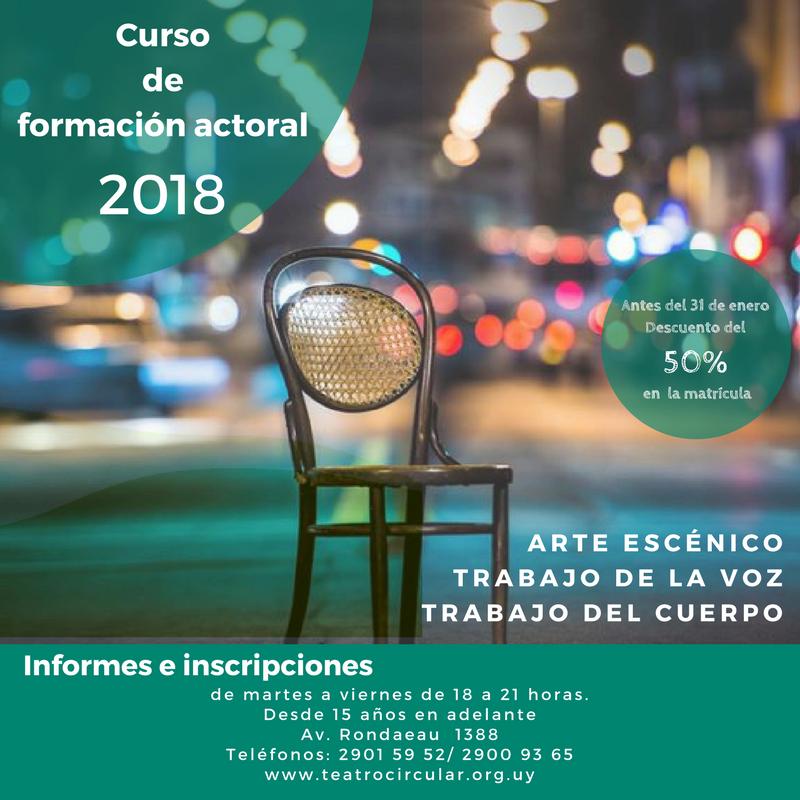 Curso de formación actoral 2018